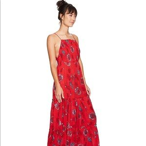 FREE PEOPLE red HOT Garden Party maxi dress 💃🏼